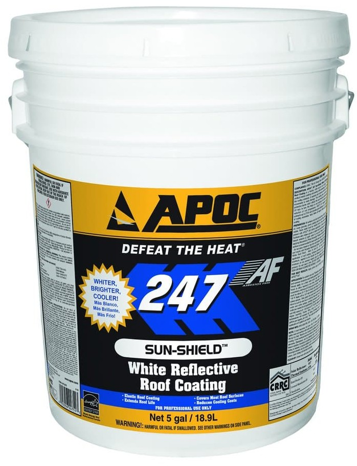 Apoc 247 White Reflective Roof Coating J Amp S Supply